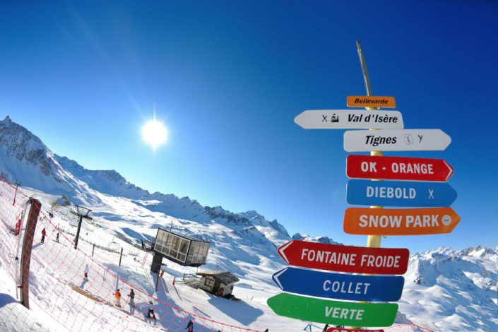 Val d'Isère, France - on the slopes