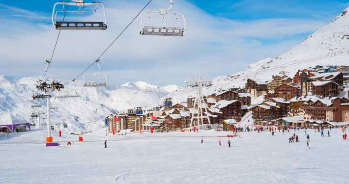 3 valleys - Val Thorens, chair lift. France - Skipodium