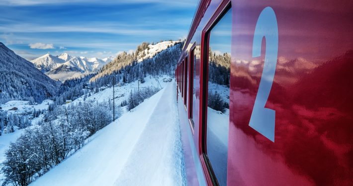 St. Moritz, Switzerland - Bernina train