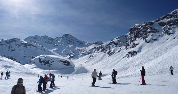 Val d'Isère, France - Skipodium
