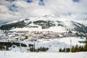 Sestriere, famous ski resort in the italian Alps