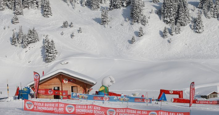 Domaine skiable: Villars-Gryon, Suisse. Booth Garenne