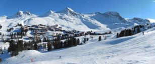 La Plagne, France - domain skiable. Resort La Plagne