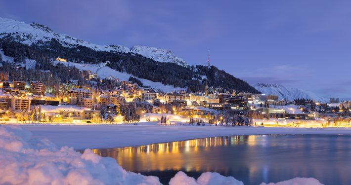 St Moritz Skigebiet, Schweiz - Skipodium