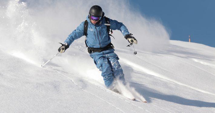 Val Thorens, Francia. Skipodium. Maestro di sci