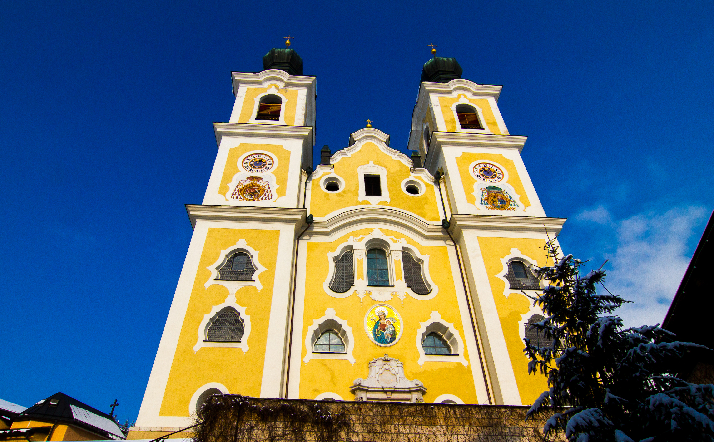Brixen im Thal, Church, mountain, architecture