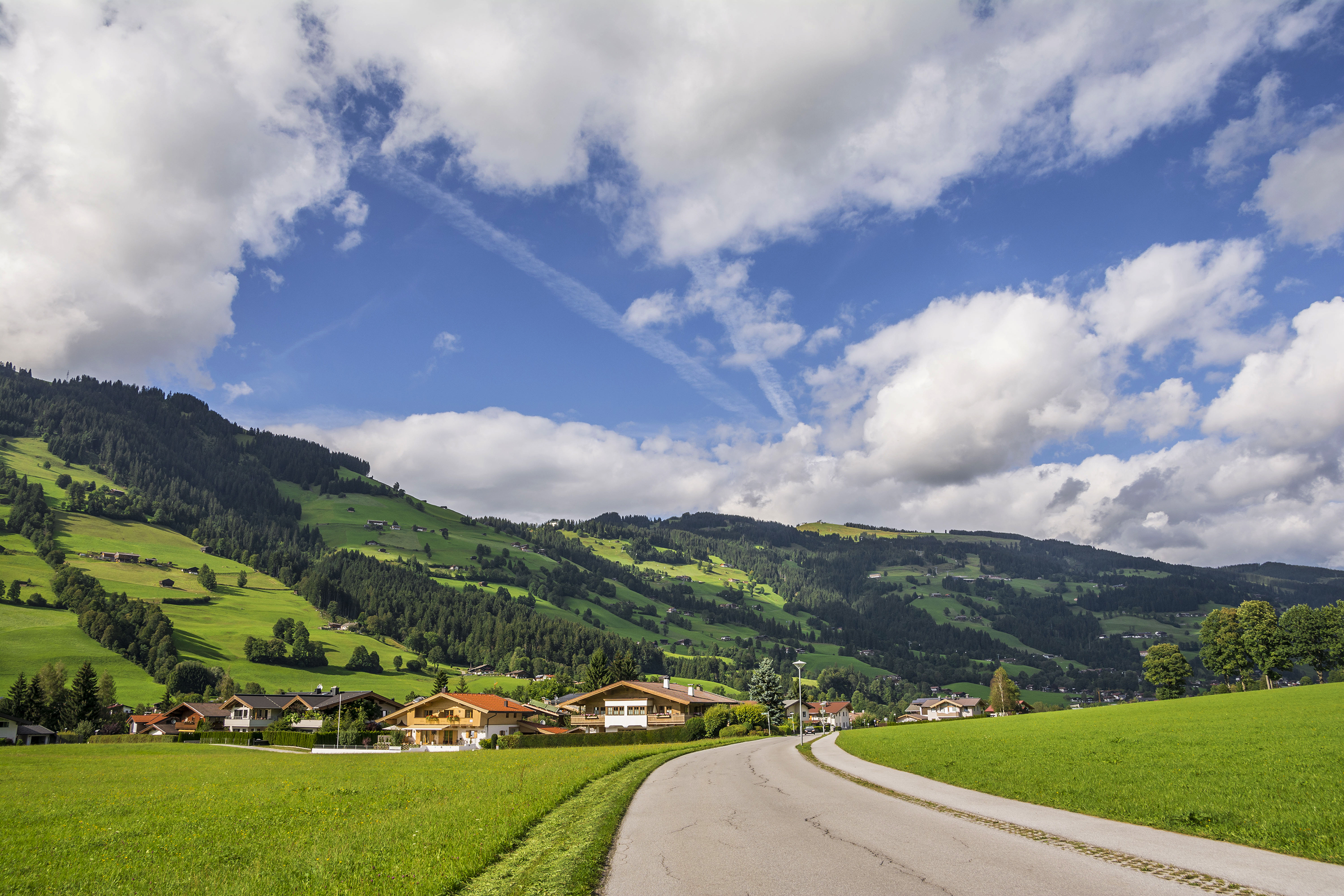 Sun, Brixen im Thal, Valley, green