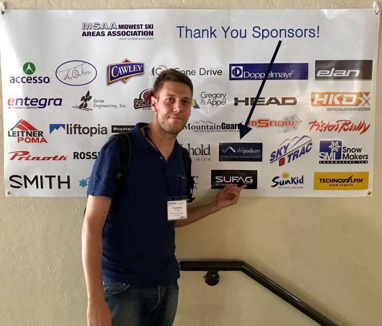 sponsorship, skipodium, partneship, MSAA 2017, midwest ski areas