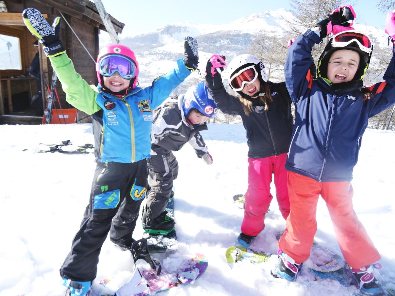 Lezioni snowboard bambini